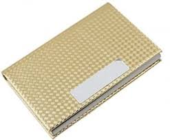 Gold Card Office Uxcell Magnetic Alloy Office Business Name Card Case Gold Tone