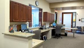 custom office design. Office Design With Receptionist Desk And Work Area For Medical Offices Custom