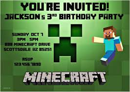full size of minecraft party invitations minecraft birthday party invitation template party invitations minecraft birthday party