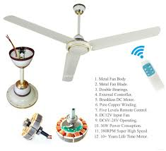 2 years warranty solar 12v dc ceiling fan 56 380rpm 36w powered by solar system