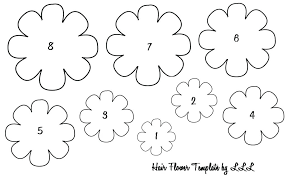Small Paper Flower Templates Free Printable Flower Templates Free Printable Small Paper Flower
