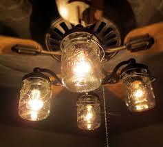 mason jar ceiling fan light kit only with vintage pints farmhouse lighting fixture chandelier pendant flush lamp mount track by lampgoods