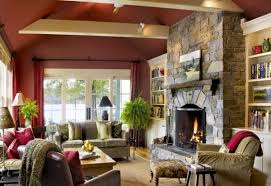 View in gallery Chic and inviting living room with a stone fireplace