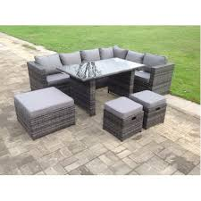 rattan corner sofa dining set table