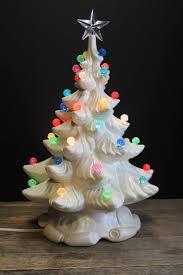 Vintage White Christmas Tree Lights Rare Snowy White Lighted Ceramic Christmas Tree Multi