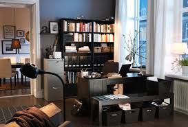 ikea office decorating ideas. Great Home Office Decorating Ideas For Small Spaces: Charming Modern Style Workspace Wooden Floor Ikea K