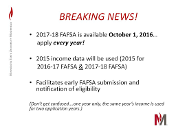 Fafsa Income Eligibility Chart 2015 2017 2018 Financial Aid Presented By Ppt Download