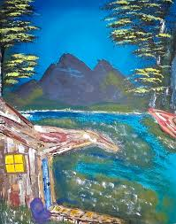 Cabin In The Swamp Painting by Jeannette Smith