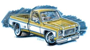Drawing a pickup truck - Chevrolet C10 (iPad Pro, Apple Pencil ...