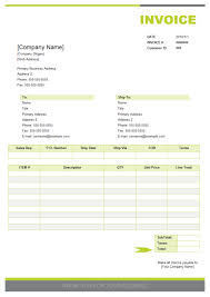 Sales Invoice Examples And Templates Free Download Invoice Format