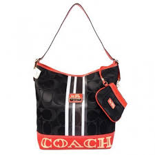 Coach In Signature Medium Black Shoulder Bags AYH