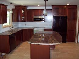 Natural Cherry Cabinets Granite Countertop Colors With Cherry Cabinets Roselawnlutheran
