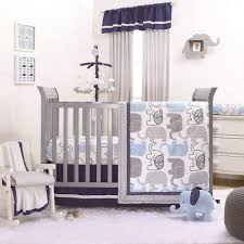 little peanut blue grey elephant baby boy crib bedding 20 piece sleep set