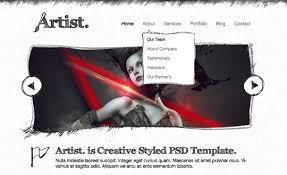 Artist Website Templates Cool Artist Sketch Responsive HTML TemplateBest CSS Website Gallery