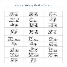 Printable Cursive Handwriting Worksheets Alphabet Download Them Or