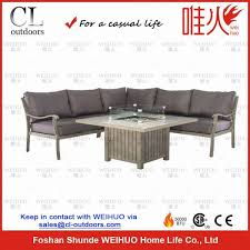 garden fire pit table corner sofa set