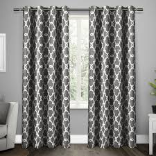 Geometric Patterned Curtains Amazoncom Exclusive Home Curtains Gates Sateen Blackout Thermal