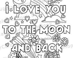 This coloring page has been designed in a way that the bat looks so cute with the flowers around it. I Love You To The Moon And Back Coloring Pages Part 2
