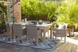 canvas monaco faux wood tabletop patio