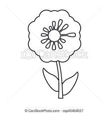 パンジー 装飾 線 花