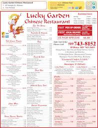 Garden Centre Kitchener Lucky Garden Restaurants Menu Hours Prices 101 Hazelglen Dr