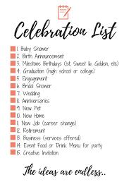 i have created a pdf for you with a list of 15 celebration ideas milestone celebration list