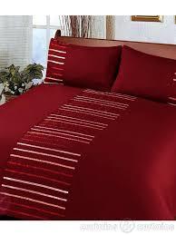toronto red embellished duvet cover