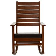 wooden chair. Beautiful Wooden Wooden Rocking Reclining Relax Chair Natural Colour Brown Leather Effect Throughout