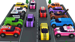 toy car videos. Simple Toy Learn Colors With Street Vehicles  Car Parking Videos Toy Cars For Kids For