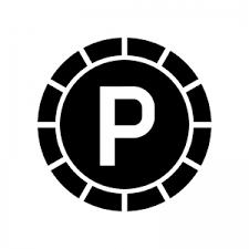 ポイントコインのシルエット 無料のaipng白黒シルエットイラスト