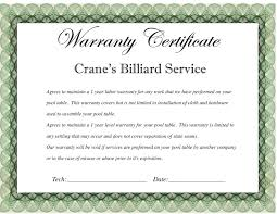 Warranty Certificate Template Best And Various Templates Ideas