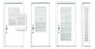 door with blinds in glass insert modern doors french blind full magnetic inserts
