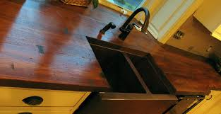 wood finish concrete countertop