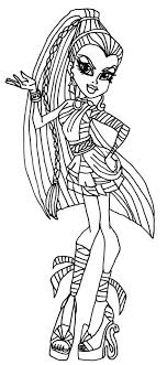 Small Picture Monster High Coloring Pages Pdf at Coloring Book Online