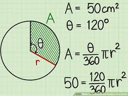 10 7 areas of circles and sectors form g answers 4 simple ways to calculate the radius of a circle wikihow