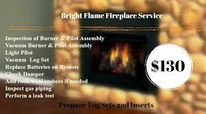 fireplace service log set propane gas insert