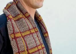 Mens Scarf Crochet Pattern Delectable Crochet For Men 48 FREE Crochet Patterns Any Guy Will Love Interweave