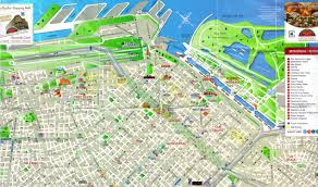 detailed tourist map of central part of buenos aires city