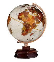 replogle usonian frank lloyd wright desktop globe 12 inch diameter walnut finish base