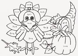 Free Printable Math Worksheets For Thanksgiving Beautiful Coloring ...