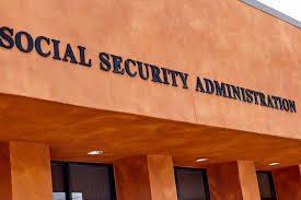 visiting a social security office