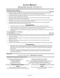 Inspiration Resume Samples For Automotive Service Manager With
