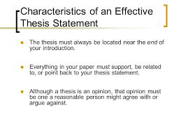 where is the thesis of a paper located creating an argument thesis vs purpose statements