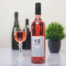 birthday personalised wine bottle gift set