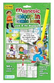 Doowell Activity Charts Doowell Activity Charts Magnetic Jack And The Beanstalk Colour In Comic Book