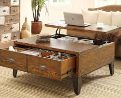 veneer lacquered coffee table with storage and lift top impressive solidwood glamorous items