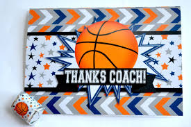 what a great way to thank a wonderful coach with these basketball themed thank you cards and candy gift bo