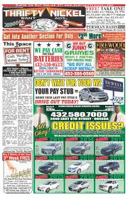 our thrifty nickel blog want ads of odessa texas sewell we finance front page