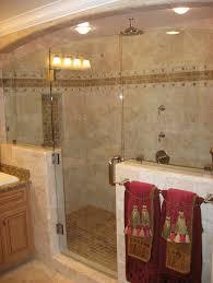 Bathroom Minimalist Bathroom Tile Ideas Brown Stripe Wall With - Candles for bathroom