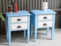 light blue furniture. not too shabby retro vintage furniture light blue u0026 white bedside tables y